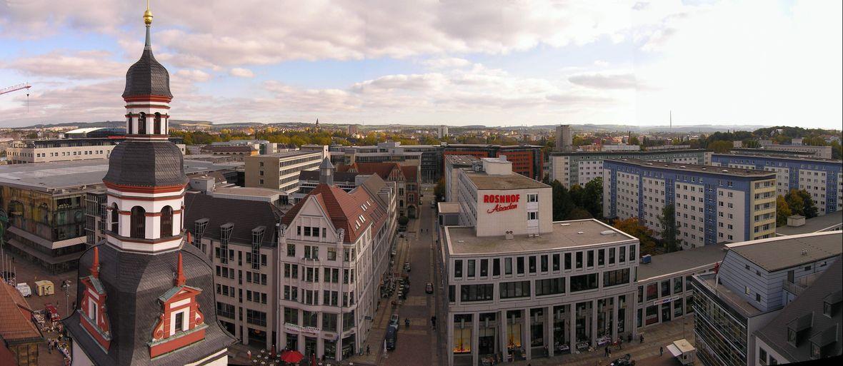 Chemnitz panorama Rathaus