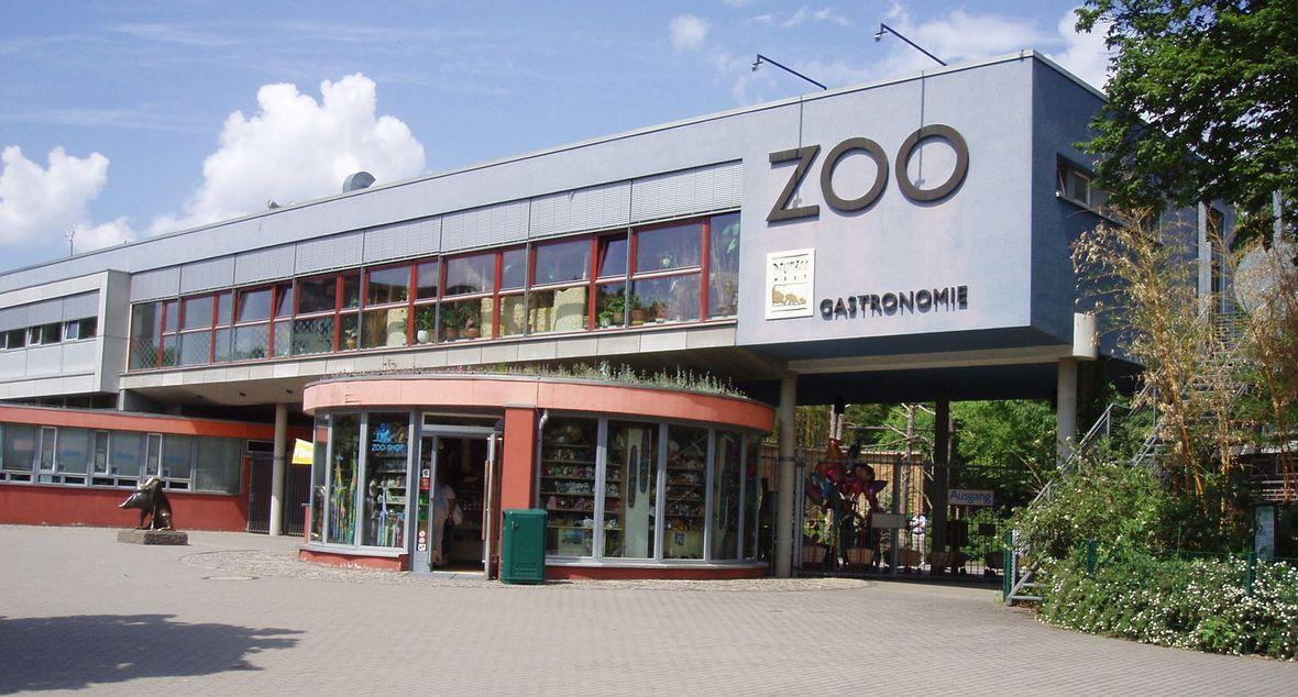 Eingang zum Dresdner Zoo