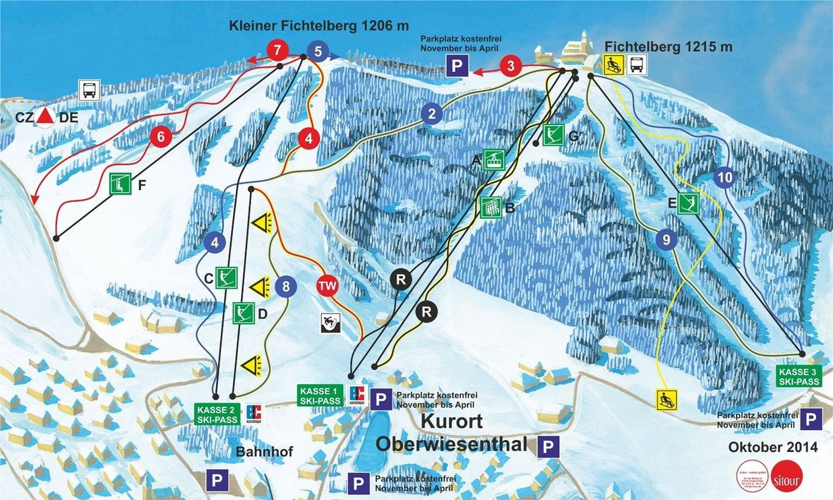 Oberwiesenthal Skikarte