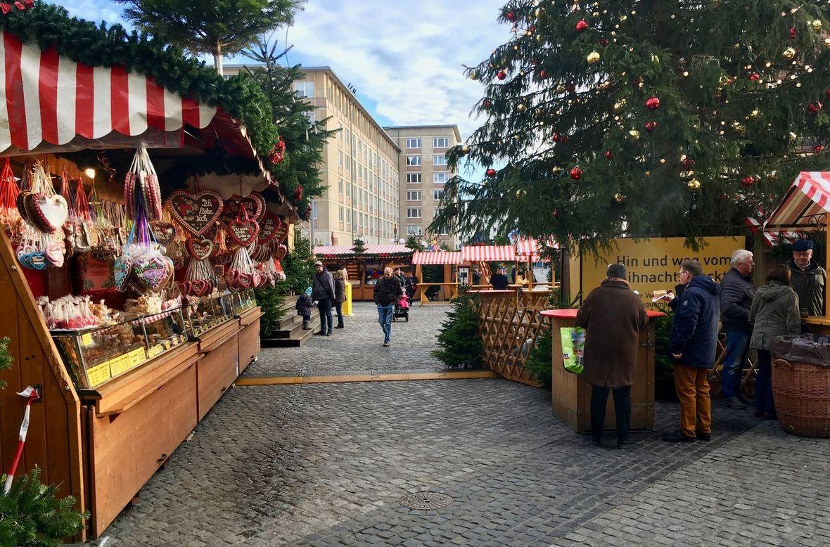 Weihnachtsmarkt Leipzig Eingang