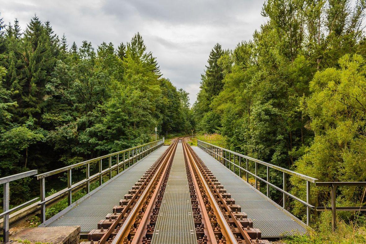 Ore Mountains train railway bridge