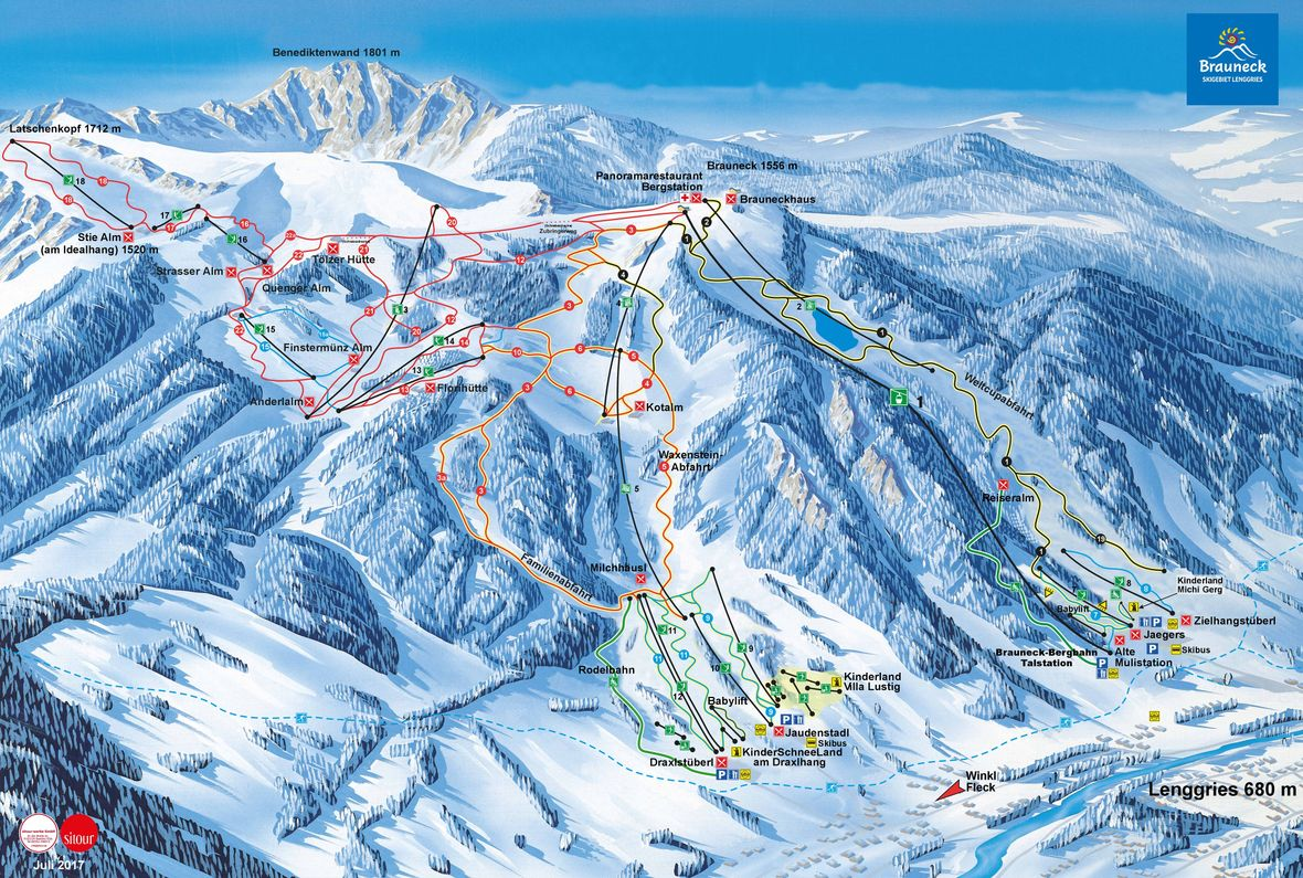 Piste map Brauneck / Lenggries