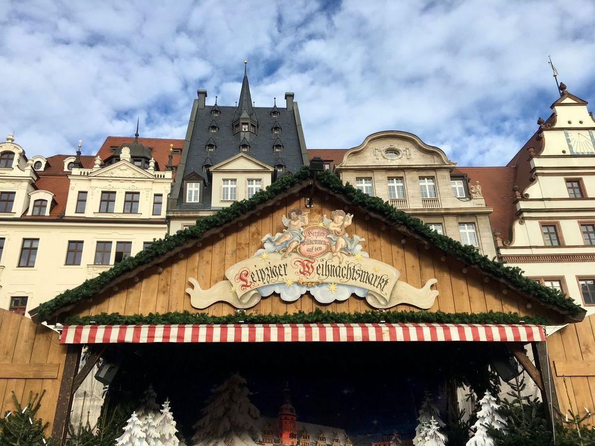 Leipziger Weihnachtsmarkt begrüßt
