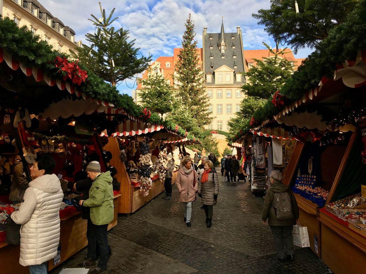Leipzig Weihnachtsmarkt zwischen den Reihen