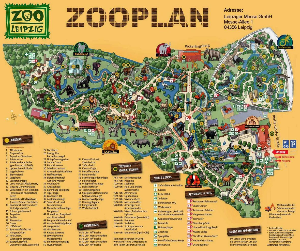 Zoo Leipzig Map