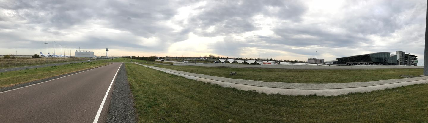 Halle Airport Leipzig panorama