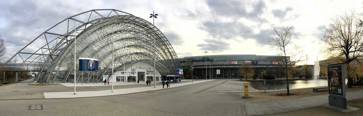 Panorama of the Trade Fair of Leipzig