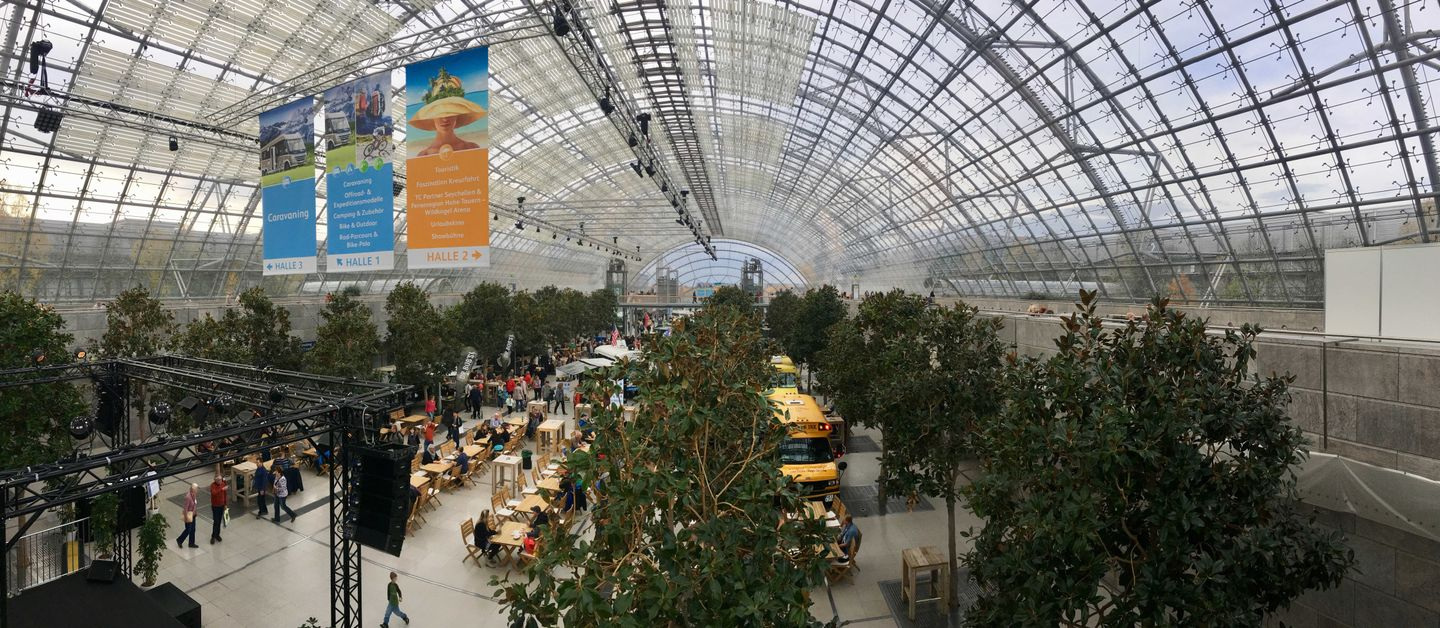 The Leipzig Trade Fair inside the hall