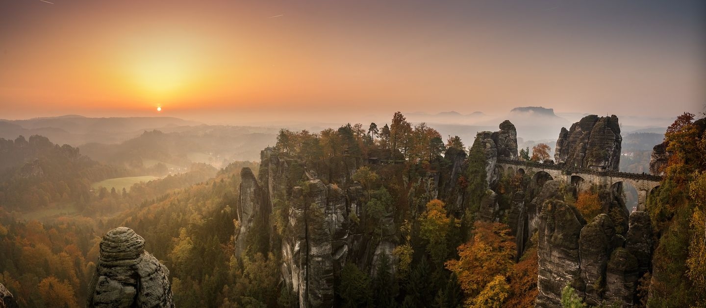 The Bastei Bridge panorama