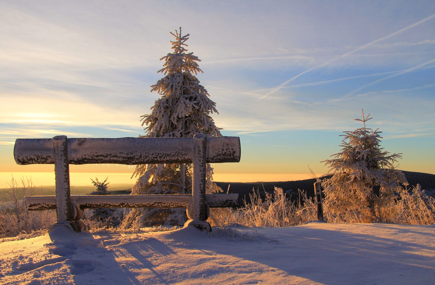 Fichtelberg Sunrise Ore Mountains