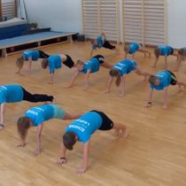 Plank dance challenge by the kids from SSG Leipzig