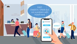 FAST Check-in / check-out: not a problem with HotelFriend