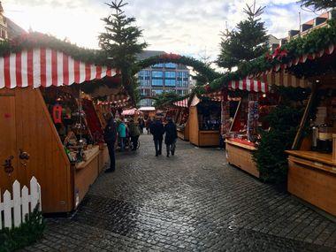 Leipzig Weihnachtsmarkt von innen