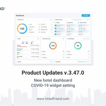 Product Updates v.3.47.0: new hotel dashboard, added COVID-19 widget setting