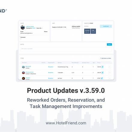 Product Updates v. 3.59.0: Reworked Orders, Reservation, and Tasks Management Improvements