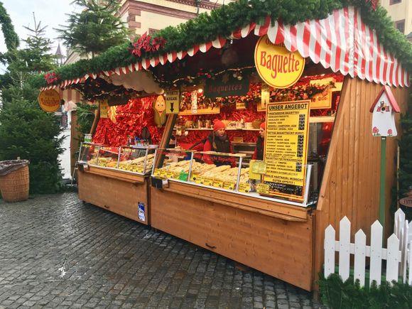 Weihnachtsmarkt in Leipzig Baguettes