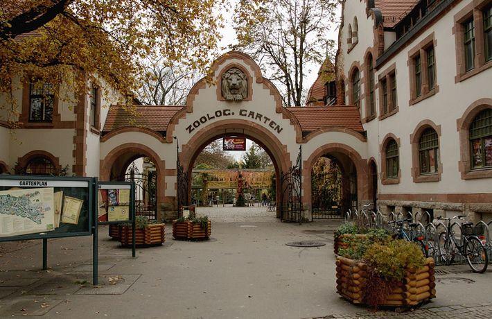 Entrance Zoo Leipzig