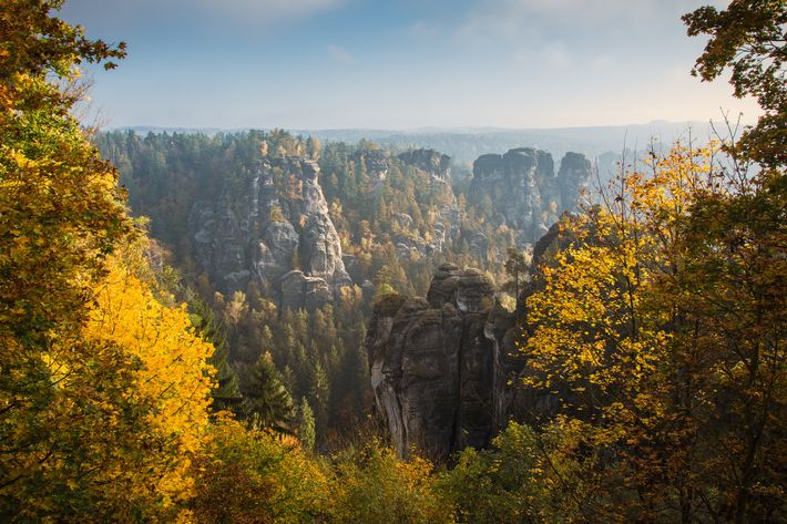 The Bastei Bridge view