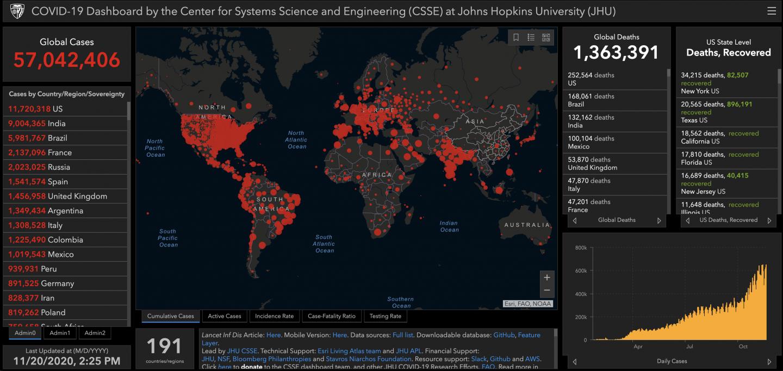 Coronavirus-Fälle weltweit