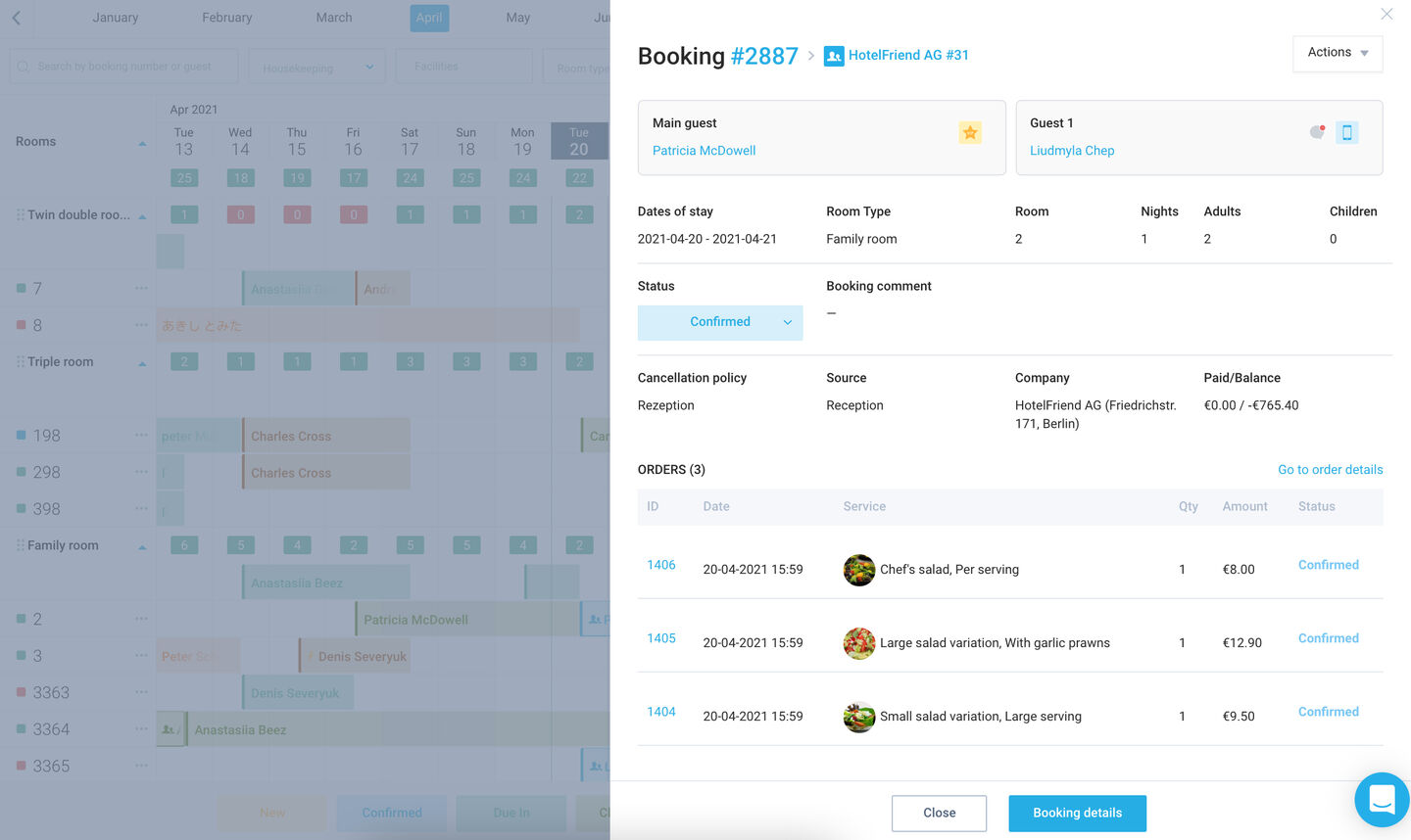 Redesigned Booking details modal
