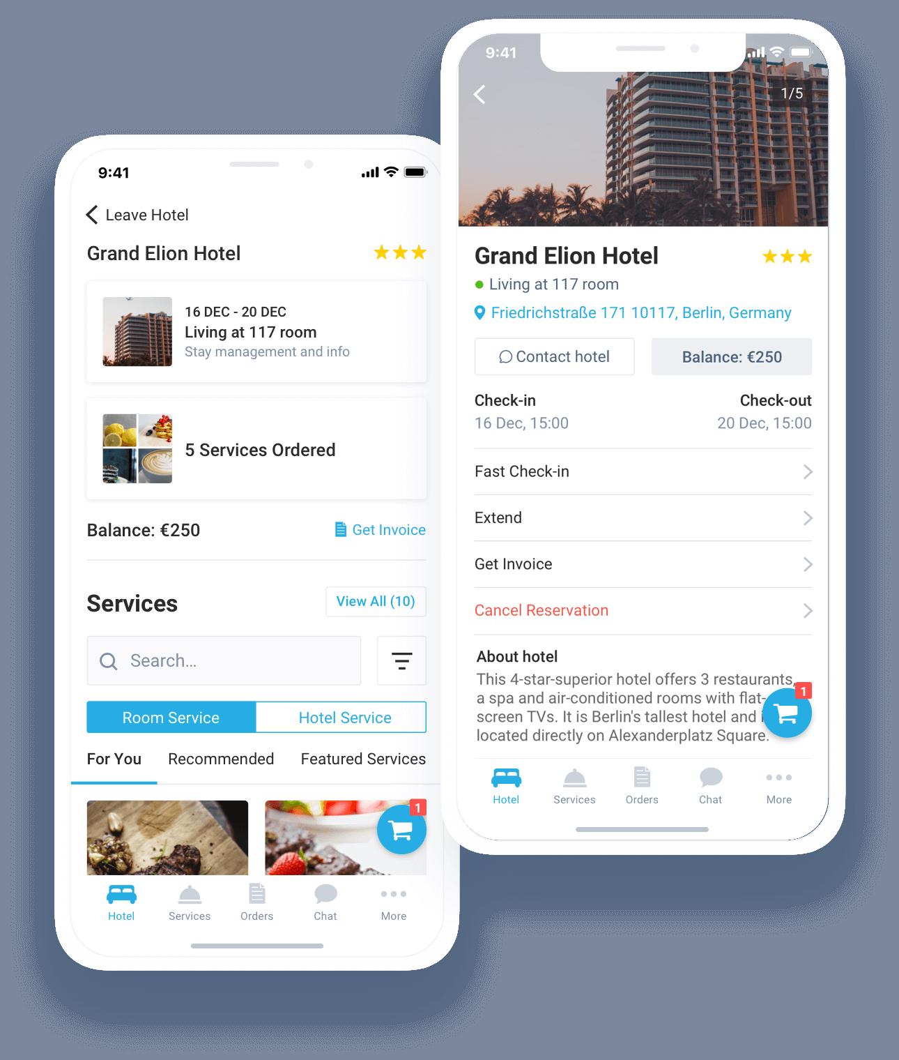 hotel moblie app concierge