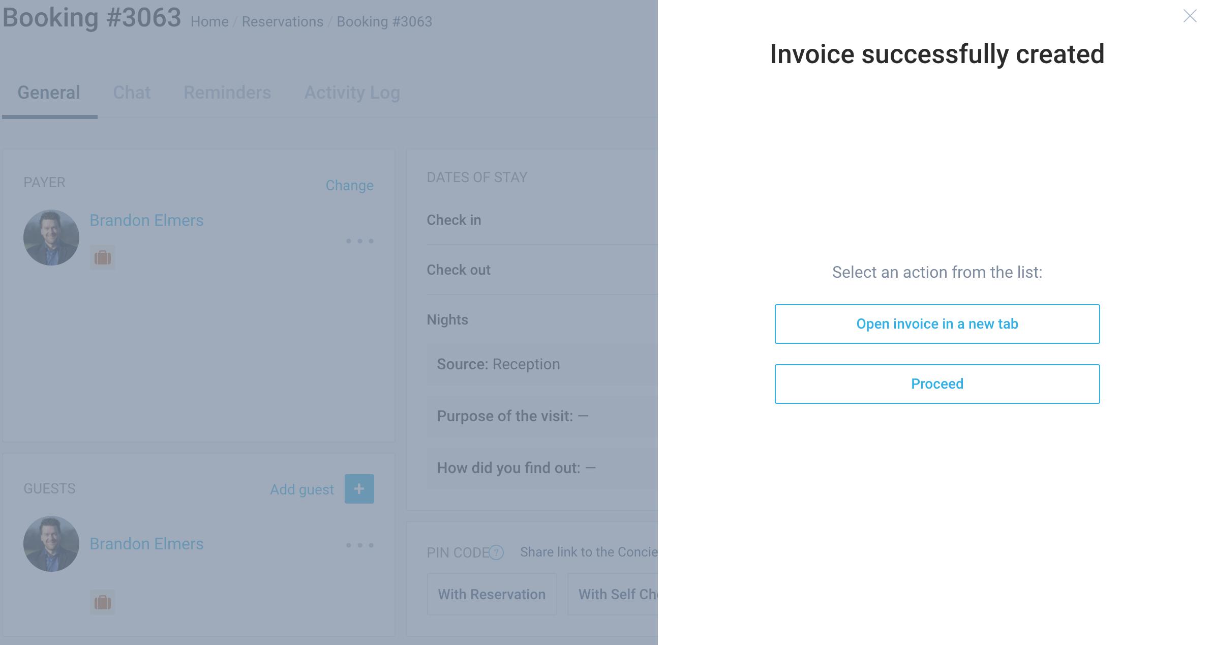 Invoice creation
