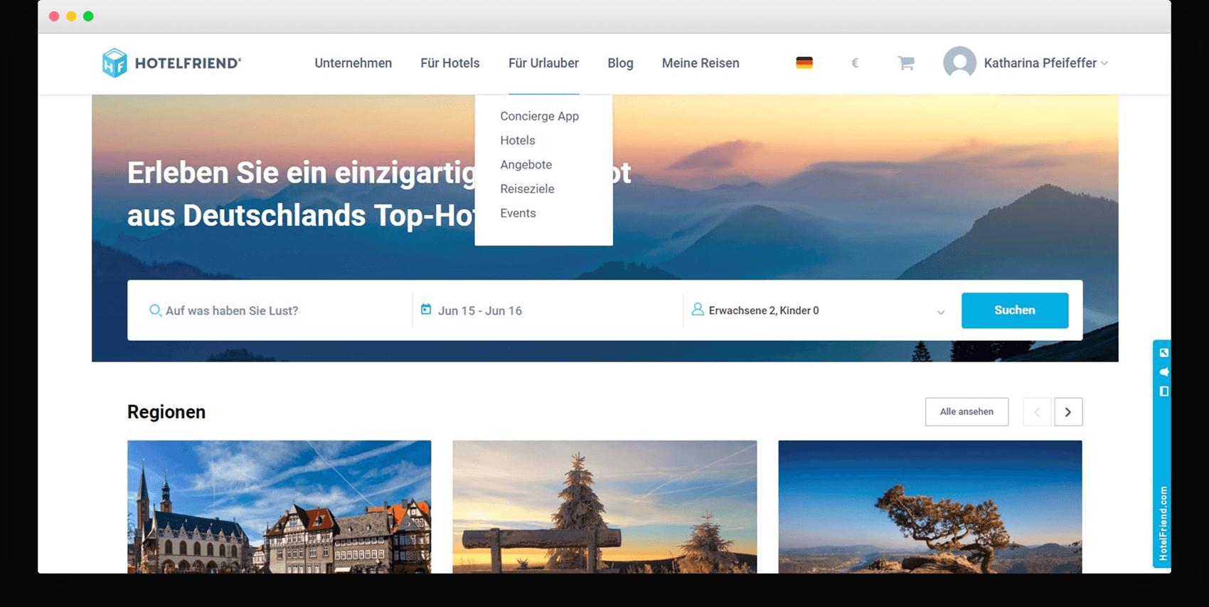 Einfaches Navigationsmenü im Kopfbereich der Webseite