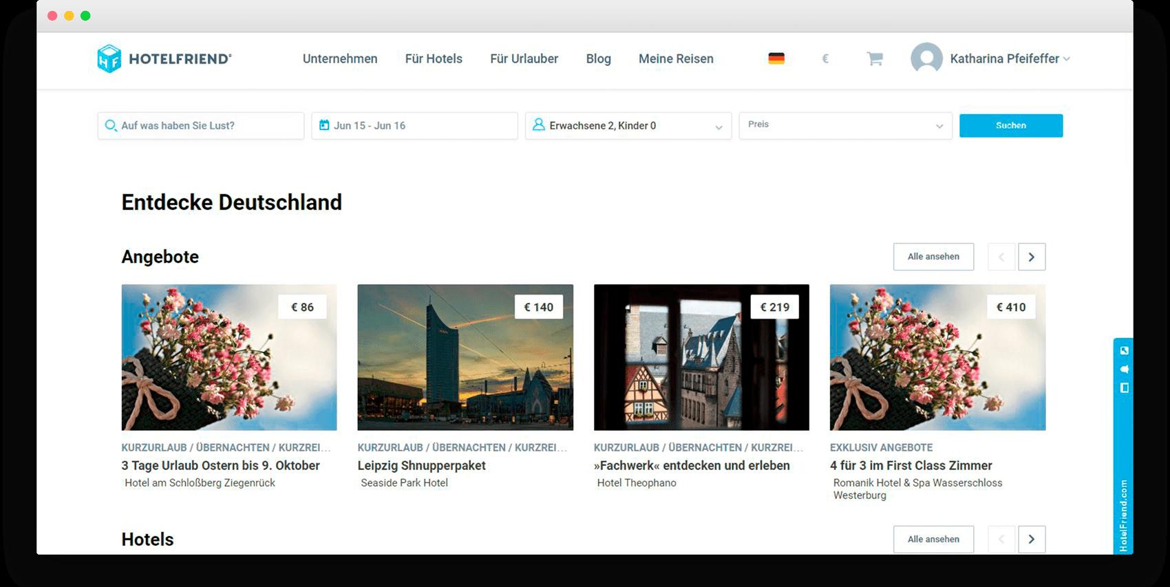 Neuen Seite Entdecke Deutschland