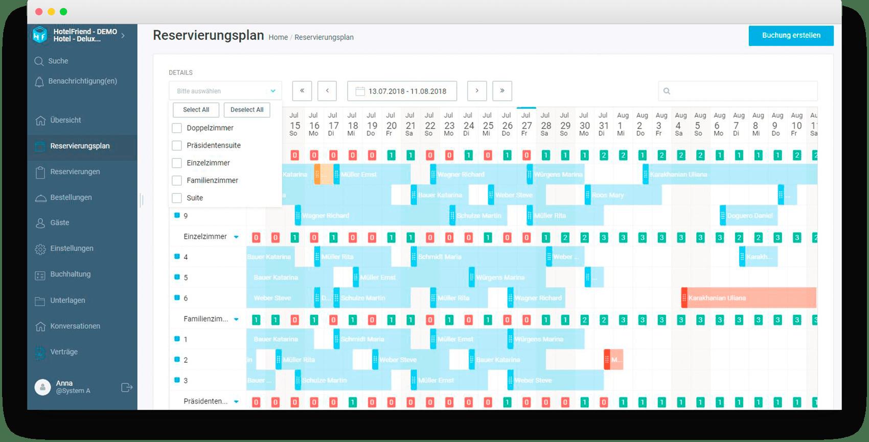 Der Filter für mehrere Zimmerkategorien ist nachgearbeitet worden