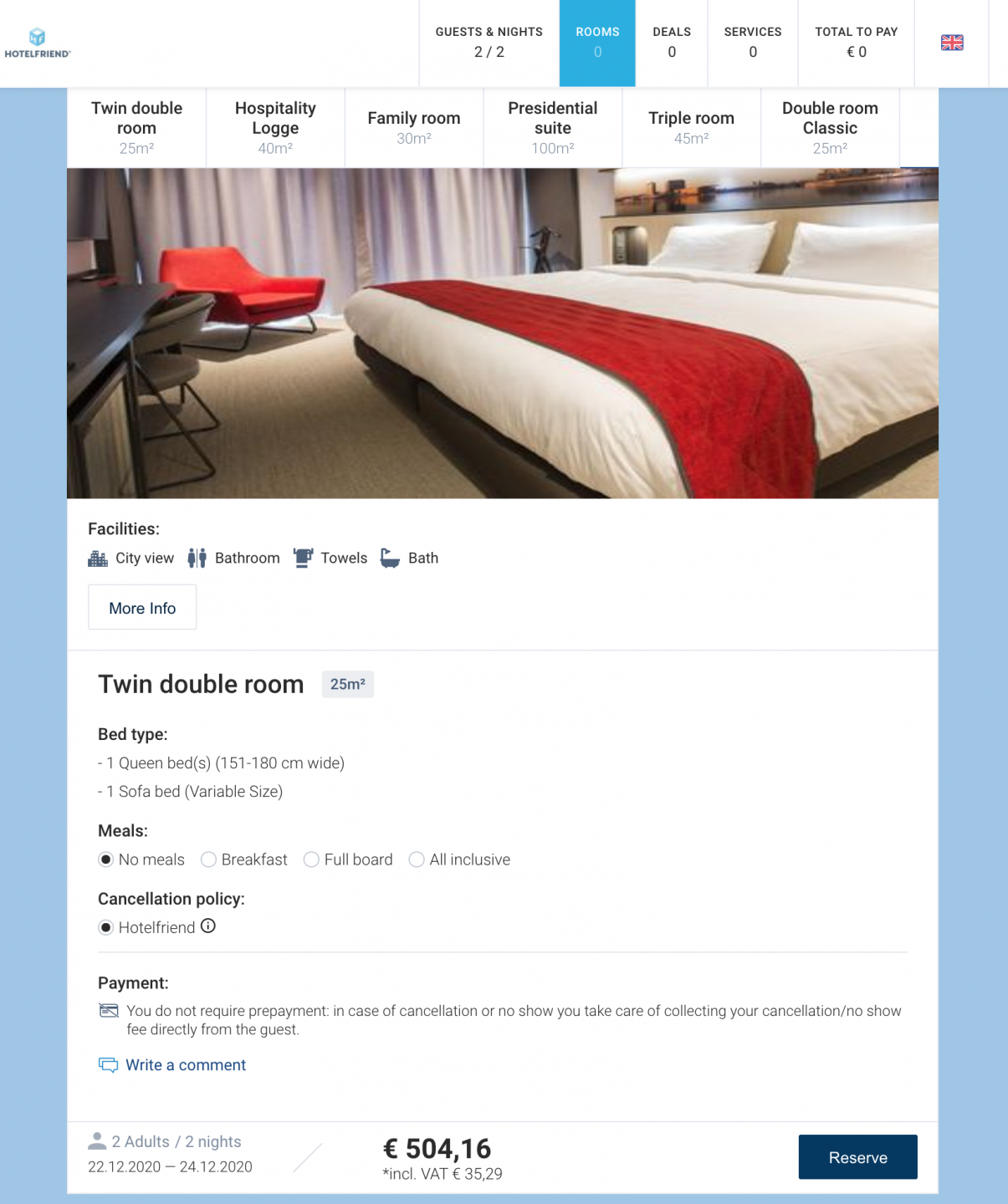 HotelFriend Booking Engine