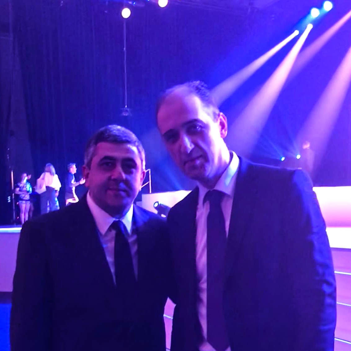 Zurab Pololikashvili, Generalsekretär UNWTO und Besarioni Kamarauli, Aufsichtsratvorsitzender HotelFriend AG