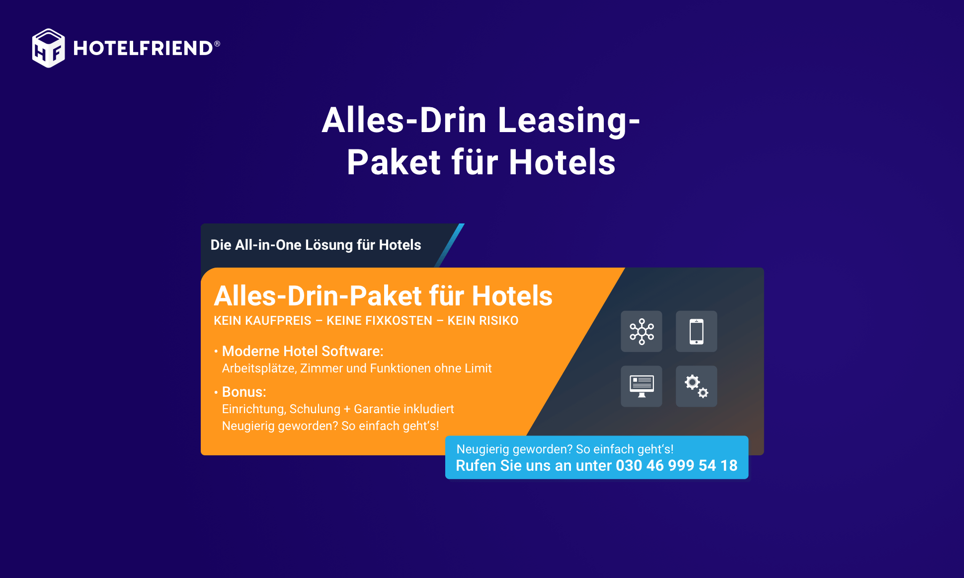 All-inclusive leasing package for hotels
