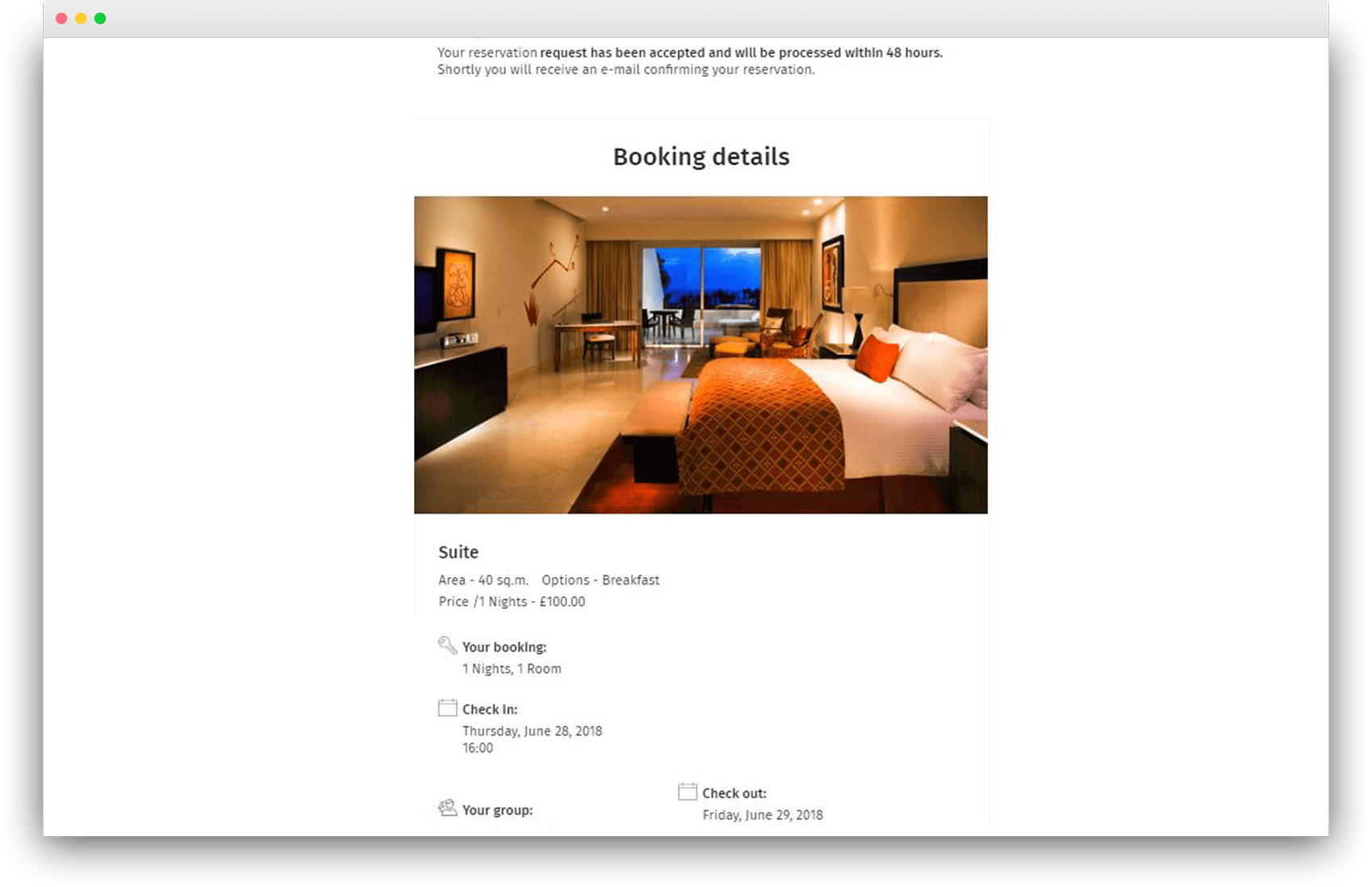 Improved design of the email notification about booking - HotelFriend Portal