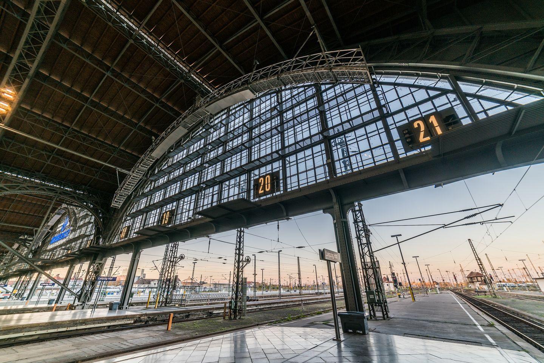 21 Gleise des Leipziger Hauptbahnhofs