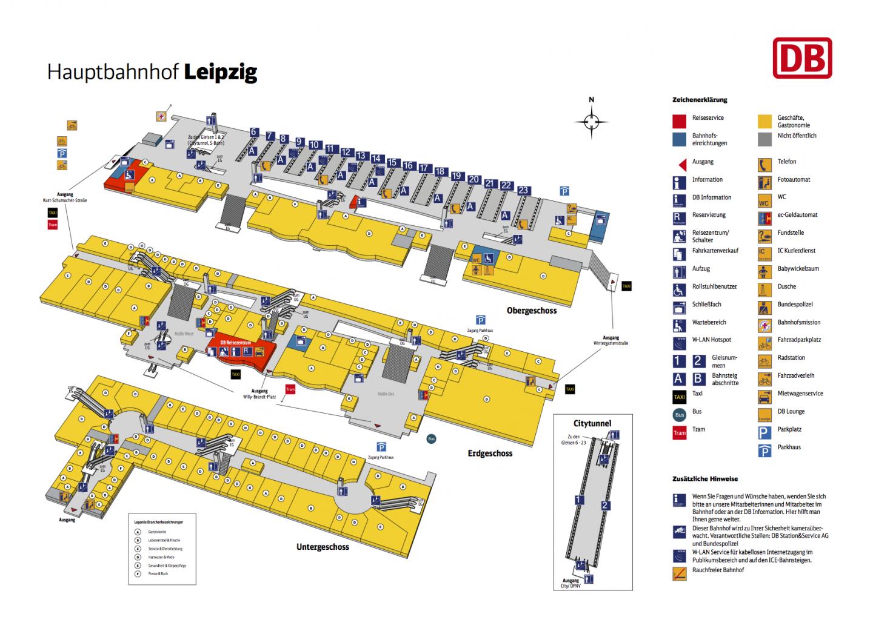 Plan vom Leipzig Hauptbahnhof