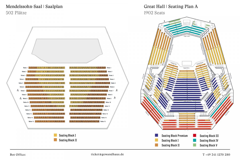 Gewandhaus Leipzig seat plan