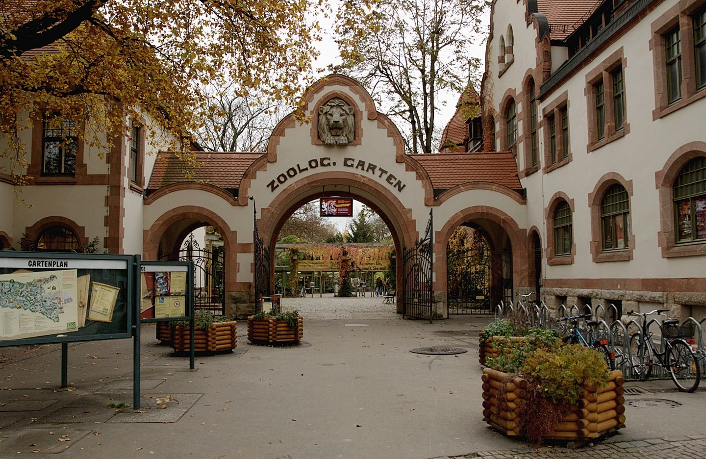 Entrance to Zoo Leipzig