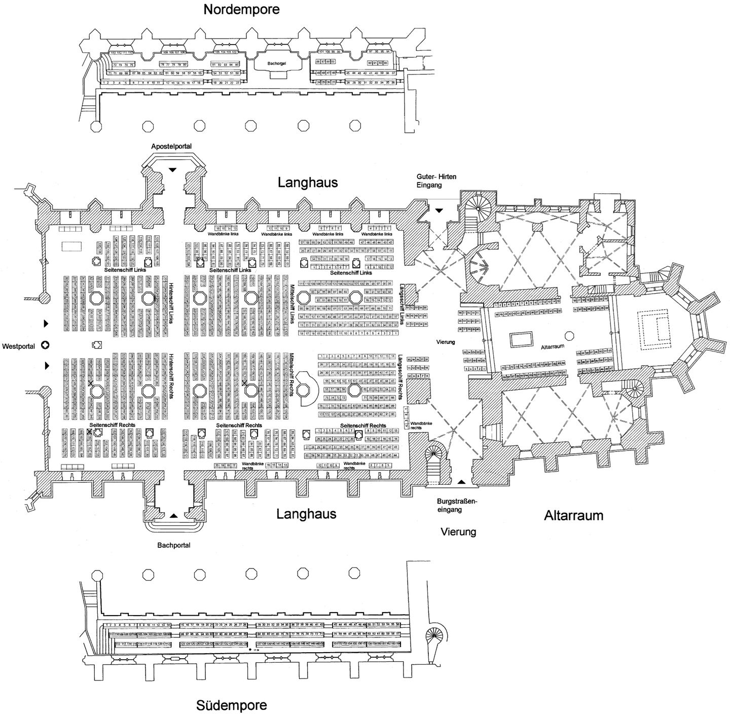 Thomaskirche seating plan