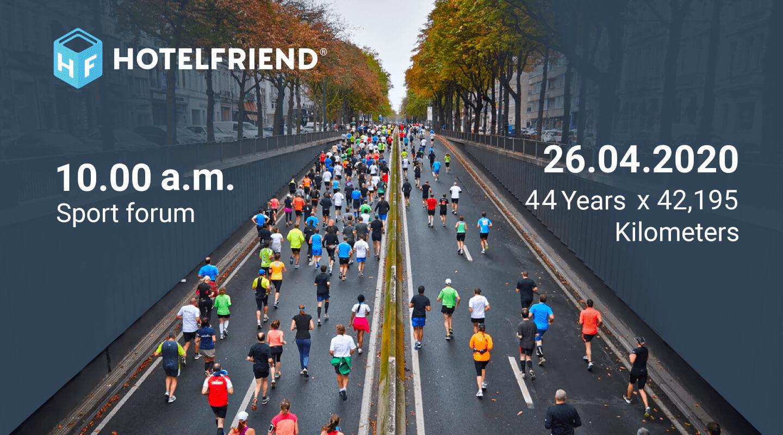 44th Marathon in Leipzig poster