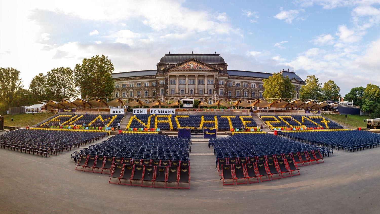 Das Kinoareal der Filmnächte in Dresden