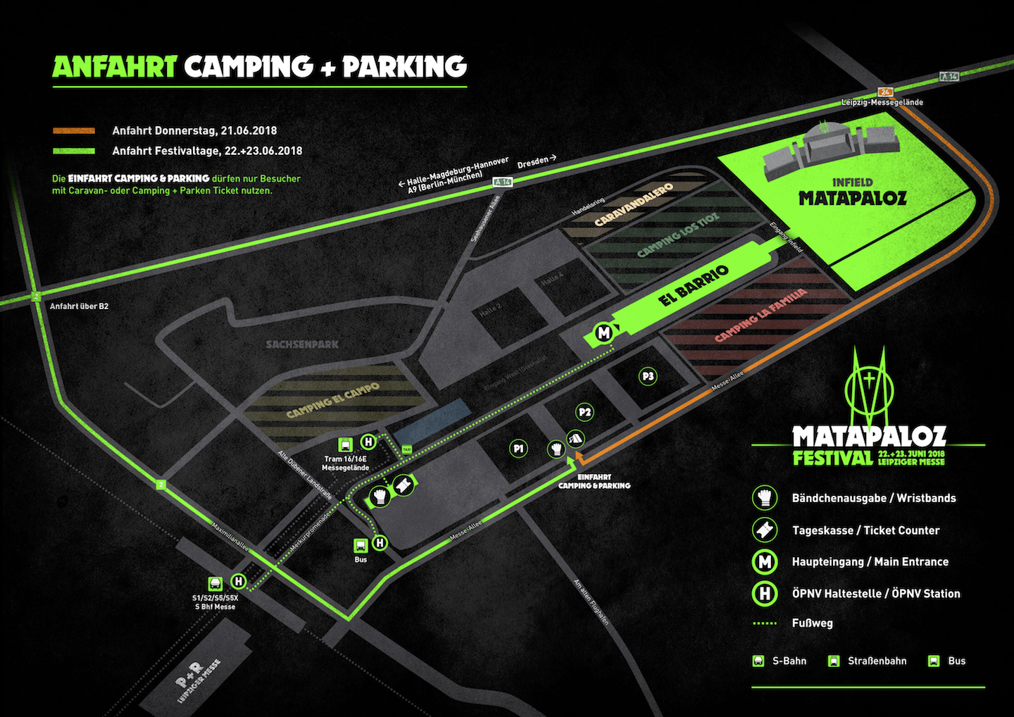 Camping and parking plan