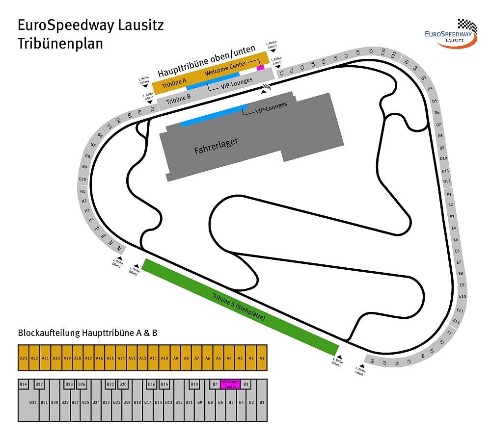 EuroSpeedway Lausitz tribune plan