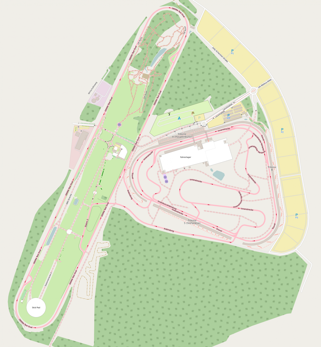 Lausitzring detailed map